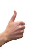 De duimen ondertekenen omhoog Royalty-vrije Stock Foto's