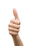 De duimen ondertekenen omhoog Royalty-vrije Stock Afbeelding