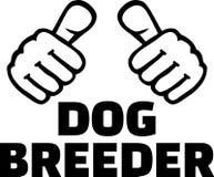 De duimen van de hondkweker Royalty-vrije Stock Afbeeldingen