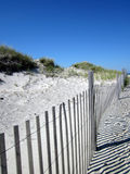 De duinen in Chapin Beach in Dennis, Massachusetts (Cape Cod) Stock Afbeelding