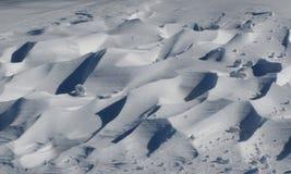 De duinen van de sneeuw Stock Afbeelding