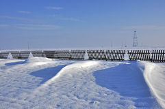De duinen van de sneeuw Royalty-vrije Stock Afbeelding