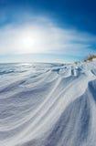 De duinen van de sneeuw Stock Foto's