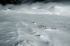 De duinen van de sneeuw Stock Fotografie