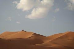 De duinen van Erg Chebbi royalty-vrije stock foto