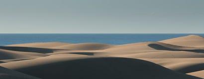 De duinen van het Maspalomaszand Stock Foto's