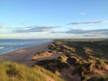 De duinen van het strandzand Stock Foto's