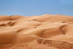 De Duinen van het woestijnzand royalty-vrije stock afbeelding