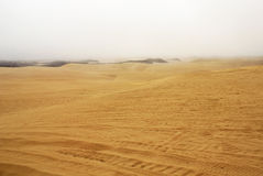 De duinen van het zand Stock Afbeelding