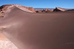 De duinen van het zand in atacamawoestijn in Chili Stock Fotografie