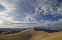 De Duinen van het zand bij Zonsondergang Royalty-vrije Stock Foto