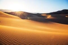 De duinen van het zand in Californië Royalty-vrije Stock Afbeeldingen
