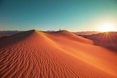 De duinen van het zand in Californi? stock afbeelding