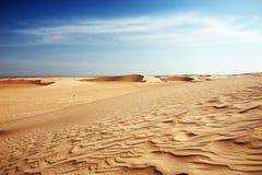 De duinen van het zand in de Sahara Stock Foto's