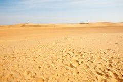 De duinen van het zand in de Sahara Royalty-vrije Stock Afbeelding