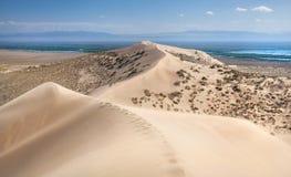 De duinen van het zand in de woestijn Royalty-vrije Stock Foto's