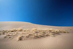 De duinen van het zand in de woestijn Stock Foto