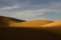 De duinen van het zand in de woestijn Pinacate Stock Afbeelding