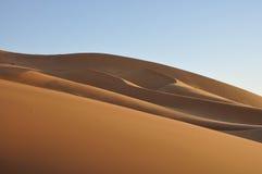 De duinen van het zand in de woestijn van de Sahara Royalty-vrije Stock Afbeelding