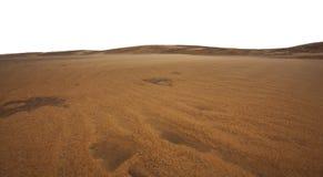De duinen van het zand en zandvormingen in de woestijn stock afbeeldingen