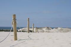 De duinen van het zand in Leba Stock Afbeeldingen