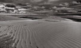 De Duinen van het zand, Lencois B&W royalty-vrije stock fotografie