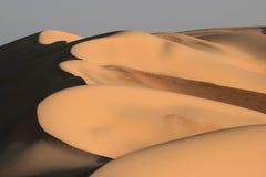 De Duinen van het zand in Overzees van het Zand van Egypte het Grote Royalty-vrije Stock Foto's