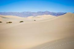De Duinen van het Zand van de Vallei van de dood stock foto