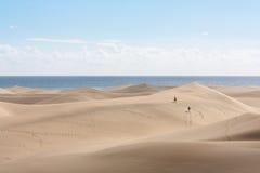 De duinen van het zand van Maspalomas Stock Fotografie