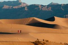 De Duinen van het Zand van Mesquite en bergen in de Vallei van de Dood Stock Foto