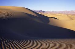 De duinen van het zand in woestijn Stock Fotografie