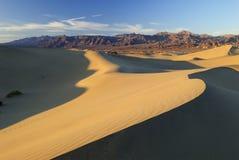 De duinen van het zand in Woestijn Mojave Royalty-vrije Stock Fotografie