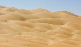 De duinen van Liwa van het woestijnpanorama Royalty-vrije Stock Fotografie