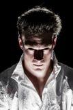 De duistere Psychomens van Freaky Stock Foto's