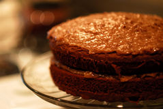 De Duitse Cake van de Chocolade Royalty-vrije Stock Foto's