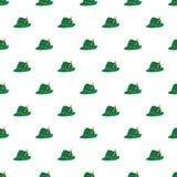 De Duitse groene naadloze vector van het hoedenpatroon vector illustratie