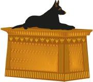 De Duitse herder van het hondstandbeeld royalty-vrije illustratie