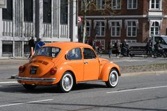 DE DUITSE KLASSIEKE AUTO VAN VW Stock Afbeelding