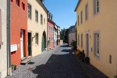 De Duitse Straat van het Dorp Stock Afbeeldingen
