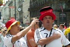 De Duitse Ventilator van het Voetbal Royalty-vrije Stock Foto