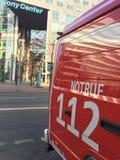 De Duitse vrachtwagen van de brandweerkorpsdienst Stock Foto