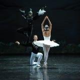 De duivel komt het Meer van de stil-balletzwaan Royalty-vrije Stock Foto's