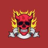 De duivelsschedel stock illustratie