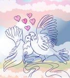 De duiven van de liefde Vector Illustratie