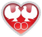 De duiven van het huwelijk Royalty-vrije Stock Afbeelding