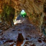 De Duiven van Menorcacova dels Coloms hollen binnen S Mitjorn uit Royalty-vrije Stock Foto's