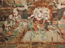 De Dunhuang-fresko's zijn gemmen van oud Chinees art. royalty-vrije stock afbeelding