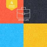 De dunne Reeks van Lijnart business office life pattern royalty-vrije illustratie