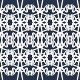 De dunne witte vectorillustratie van het lijnen uitstekende naadloze patroon vector illustratie