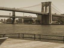 De duo-Toon van de Brug van Brooklyn royalty-vrije stock afbeeldingen